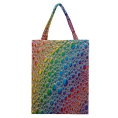 Bubbles Rainbow Colourful Colors Classic Tote Bag by Amaryn4rt