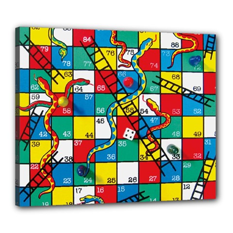 Snakes And Ladders Canvas 24  X 20  by Amaryn4rt
