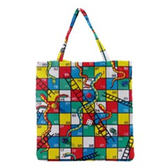 Snakes And Ladders Grocery Tote Bag by Amaryn4rt