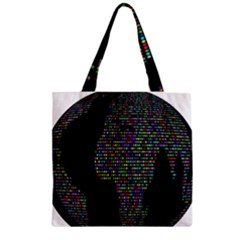 World Earth Planet Globe Map Zipper Grocery Tote Bag by Amaryn4rt