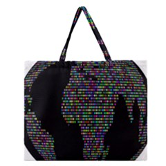 World Earth Planet Globe Map Zipper Large Tote Bag by Amaryn4rt