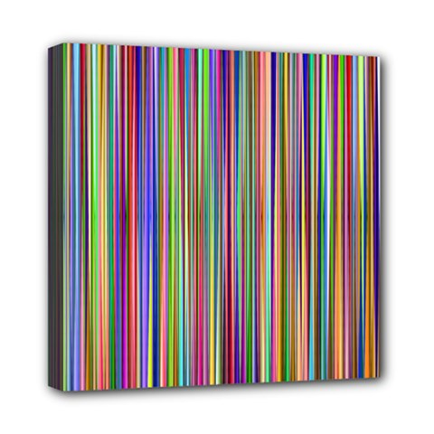 Striped Stripes Abstract Geometric Mini Canvas 8  X 8  by Amaryn4rt