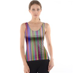 Striped Stripes Abstract Geometric Tank Top