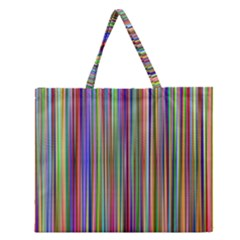 Striped Stripes Abstract Geometric Zipper Large Tote Bag by Amaryn4rt
