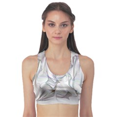 Abstract Background Chromatic Sports Bra