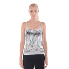 Abstract Background Chromatic Spaghetti Strap Top