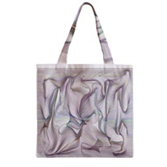 Abstract Background Chromatic Zipper Grocery Tote Bag