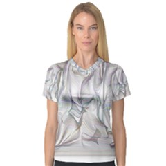 Abstract Background Chromatic Women s V Neck Sport Mesh Tee