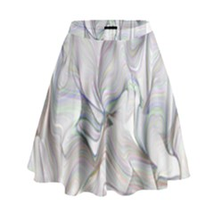 Abstract Background Chromatic High Waist Skirt