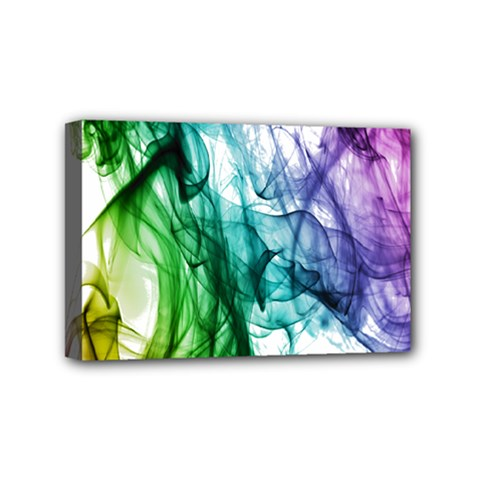 Colour Smoke Rainbow Color Design Mini Canvas 6  X 4  by Amaryn4rt