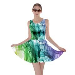 Colour Smoke Rainbow Color Design Skater Dress