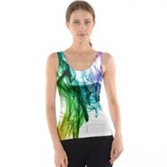 Colour Smoke Rainbow Color Design Tank Top