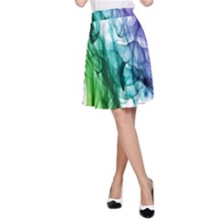 Colour Smoke Rainbow Color Design A Line Skirt