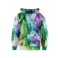 Colour Smoke Rainbow Color Design Kids  Zipper Hoodie