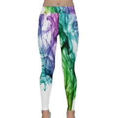 Colour Smoke Rainbow Color Design Classic Yoga Leggings