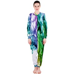 Colour Smoke Rainbow Color Design Onepiece Jumpsuit (ladies)