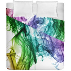 Colour Smoke Rainbow Color Design Duvet Cover Double Side (california King Size)