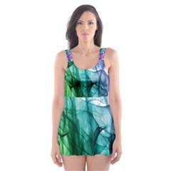 Colour Smoke Rainbow Color Design Skater Dress Swimsuit