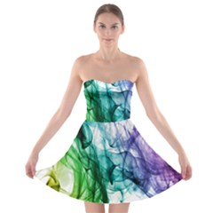 Colour Smoke Rainbow Color Design Strapless Bra Top Dress