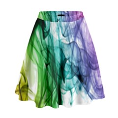 Colour Smoke Rainbow Color Design High Waist Skirt by Amaryn4rt