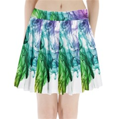 Colour Smoke Rainbow Color Design Pleated Mini Skirt
