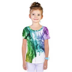 Colour Smoke Rainbow Color Design Kids  One Piece Tee