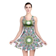 Decorative Ornamental Design Reversible Skater Dress