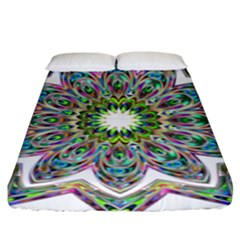 Decorative Ornamental Design Fitted Sheet (king Size)