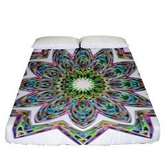 Decorative Ornamental Design Fitted Sheet (california King Size)