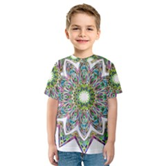 Decorative Ornamental Design Kids  Sport Mesh Tee