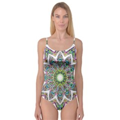 Decorative Ornamental Design Camisole Leotard