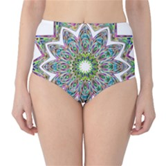 Decorative Ornamental Design High Waist Bikini Bottoms