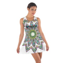 Decorative Ornamental Design Cotton Racerback Dress