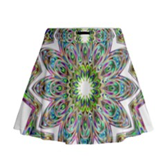 Decorative Ornamental Design Mini Flare Skirt