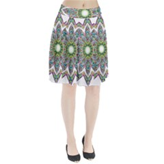 Decorative Ornamental Design Pleated Skirt