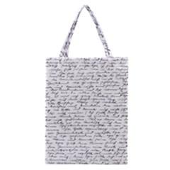 Handwriting  Classic Tote Bag by Valentinaart