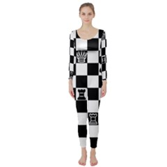 Chess Long Sleeve Catsuit by Valentinaart