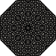 Dark Ditsy Floral Pattern Folding Umbrellas by dflcprints