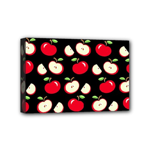 Apple Pattern Mini Canvas 6  X 4  by Valentinaart