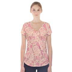 Pattern Short Sleeve Front Detail Top by Valentinaart