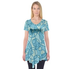 Pattern Short Sleeve Tunic  by Valentinaart