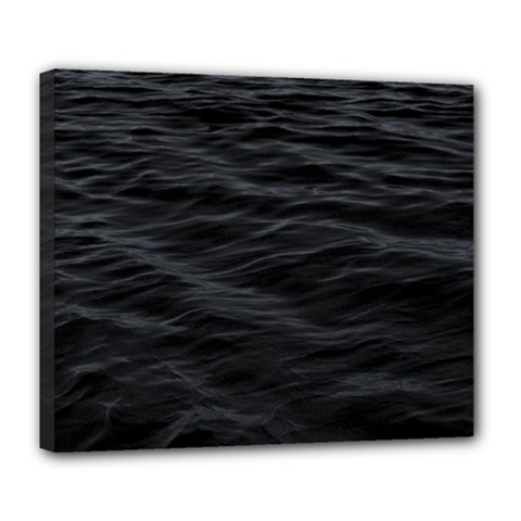 Dark Lake Ocean Pattern River Sea Deluxe Canvas 24  X 20   by Simbadda