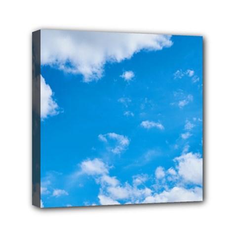 Sky Blue Clouds Nature Amazing Mini Canvas 6  X 6  by Simbadda
