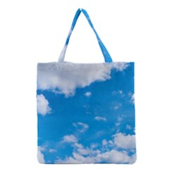 Sky Blue Clouds Nature Amazing Grocery Tote Bag by Simbadda