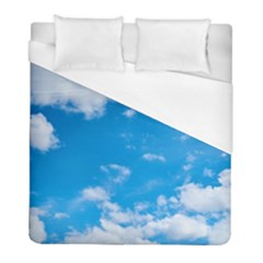 Sky Blue Clouds Nature Amazing Duvet Cover (full/ Double Size) by Simbadda