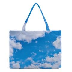 Sky Blue Clouds Nature Amazing Medium Tote Bag by Simbadda