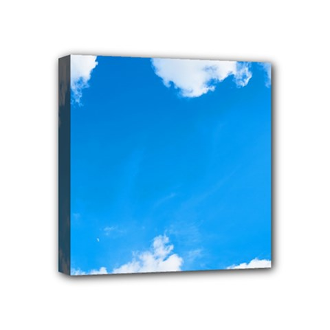 Sky Clouds Blue White Weather Air Mini Canvas 4  X 4  by Simbadda