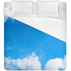 Sky Clouds Blue White Weather Air Duvet Cover (king Size) by Simbadda