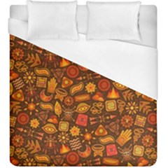 Pattern Background Ethnic Tribal Duvet Cover (king Size) by Simbadda
