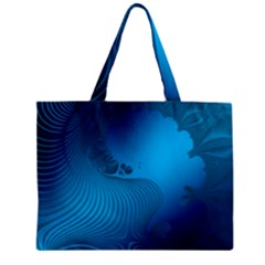 Fractals Lines Wave Pattern Zipper Mini Tote Bag